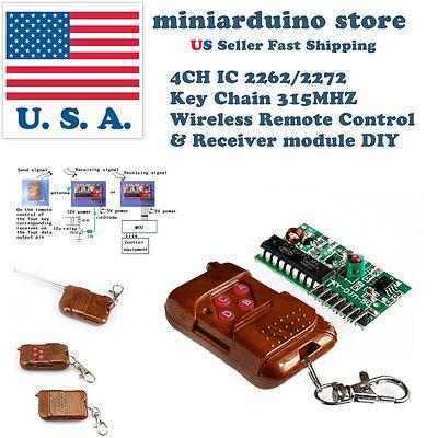 4ch Ic 22622272 Key 315mhz Wireless Remote Control Receiver Diy Module Arduino