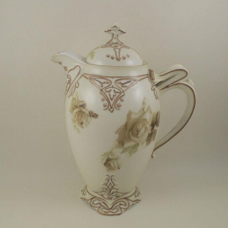 OLD IVORY 16 XVI (Clairon Shape) by HERMANN OHME Silesia Chocolate Pot Demitasse