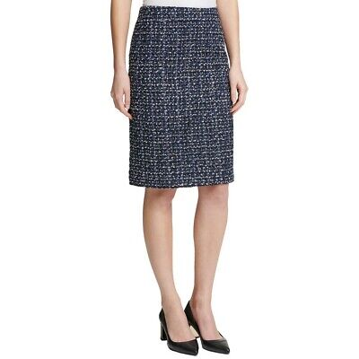DKNY NEW Women's Tweed Hidden Back Zipper Straight Pencil Skirt TEDO