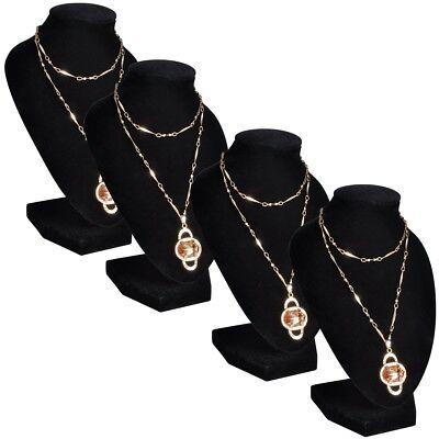 4x Schmuckständer Halsketten-Halter Ständer Schmuck-Büste Präsentation Display