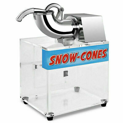 Electric Snow Cone Machine Ice Shaver Maker Shaving Crusher Dual Blades Us