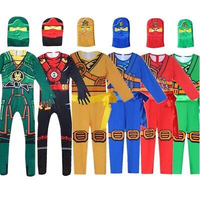 LEGOO Ninjago Cosplay Lloyd Kai Deluxe Costume Kids Ninja Fancy Dress Boys - Ninjago Ninja Costumes