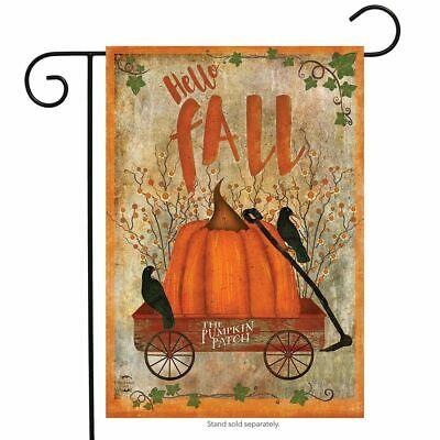 PUMPKIN PATCH WAGON FALL THANKSGIVING PRIMITIVE MINI WINDOW GARDEN YARD FLAG NEW