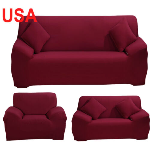 Newest 1 2 3 4 Fabric Stretch Arm Chair Loveseat Sofa Cover