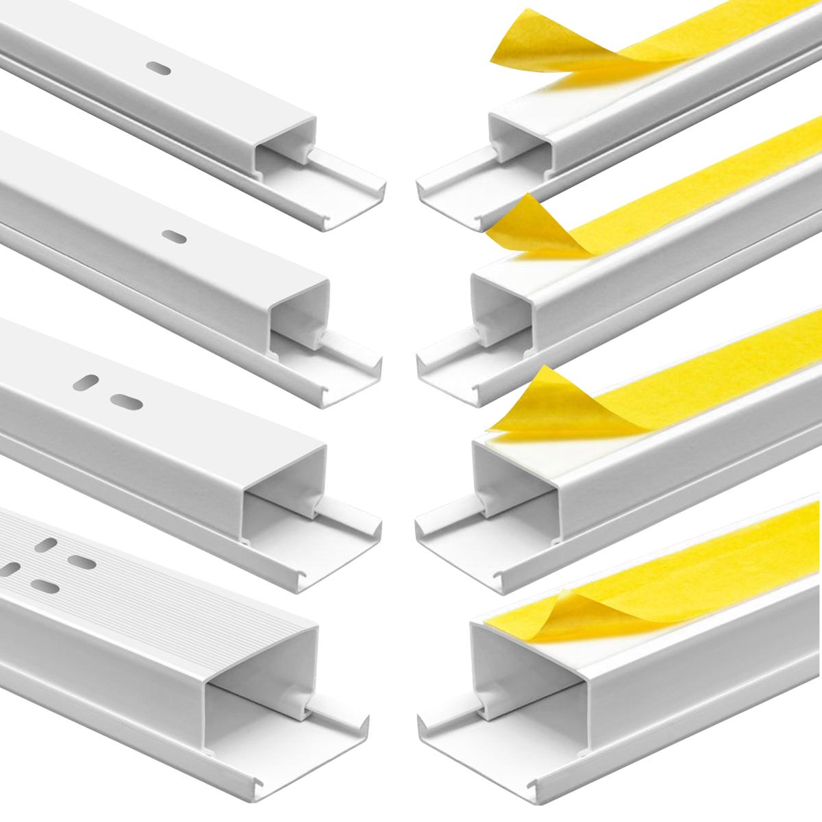 Kabelkanal 200 cm 40 x 40 mm Kabelröhre Installationskanal weiß Kabelschacht
