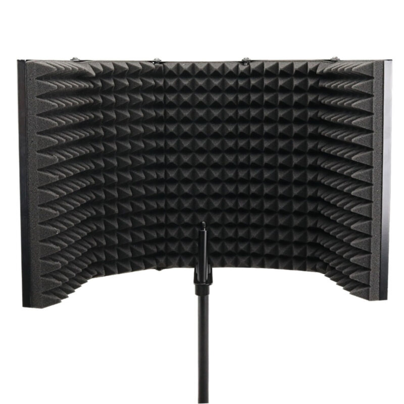 5 Folding Panel Pro Studio Microphone Isolation Shield Sound Vocal Absorber US