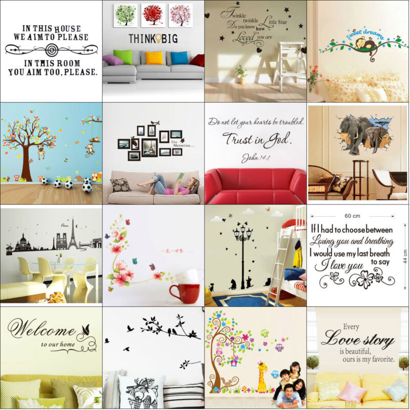 Home Decoration - Quote Wall Stickers Vinyl Art Home Room DIY Decal Home Decor Removable Mural New