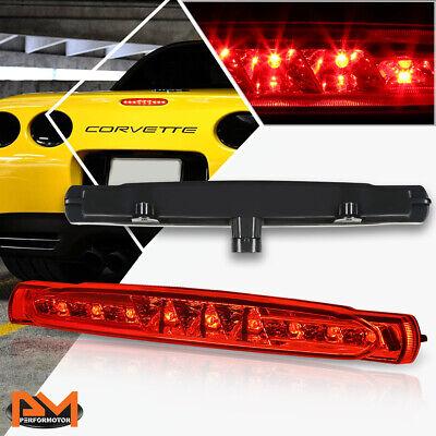 For 97-04 Chevy Corvette LED Third 3RD Tail Brake Light Rear Stop Lamp Red Lens