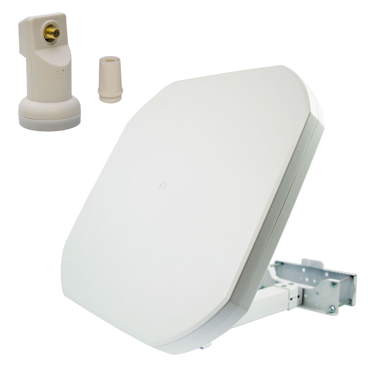 Sat Flachantenne Digital Single LNB Satellitenanlage 1 Teilnehmer 4K UHD Full HD
