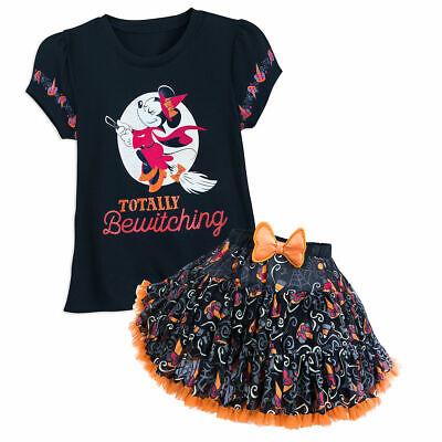 Holiday Park Halloween Party (Disney Parks Halloween Minnie Mouse Costume Tutu Shirt & Skirt Set Ruffle)