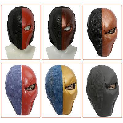 Assassin Deathstroke Mask Helmet Arkham Origins Halloween Cosplay Mask 6 Styles](Halloween Mask Origin)