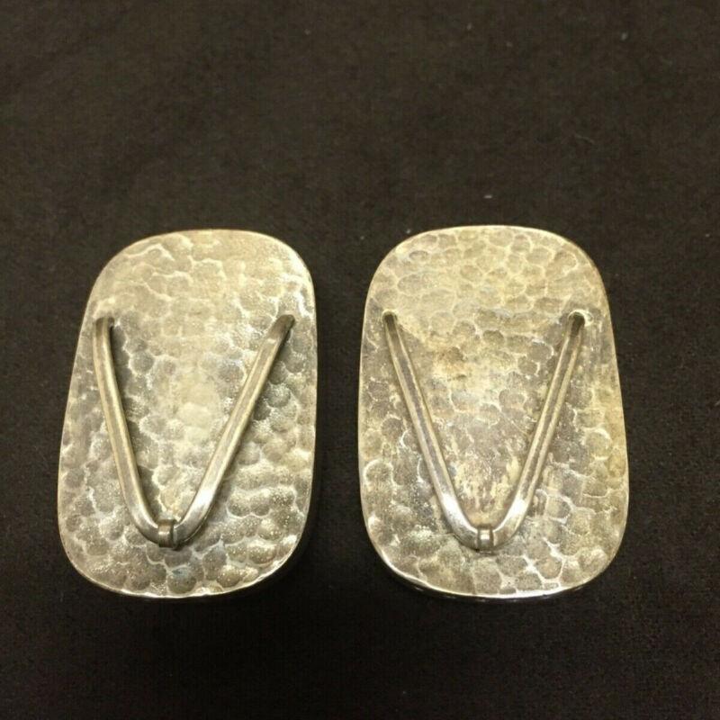 Vintage 1950's 950 Sterling Silver Japanese Geta Sandal Salt & Pepper Shakers
