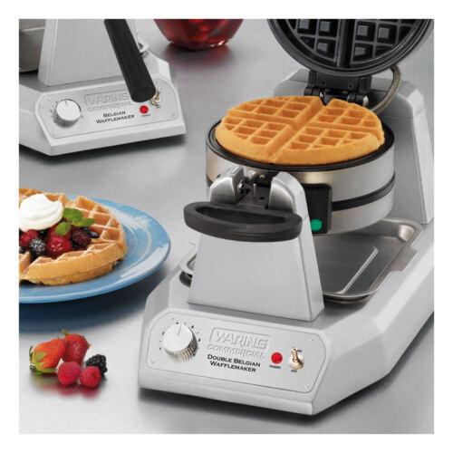 Waring WW200 Double Vertical Belgian Waffle Maker – 120V 1400W