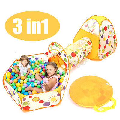 3 in 1 baby toddler crawling tunnel