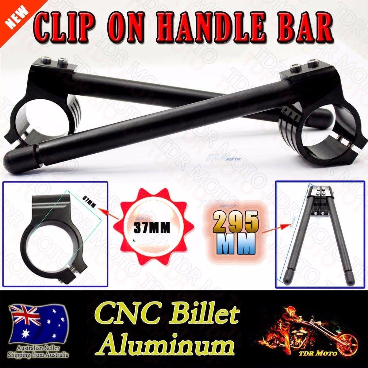 Motorcycle Cafe Racer Aluminum 41mm Fork Tube Clip-On Handlebars Handle Bar