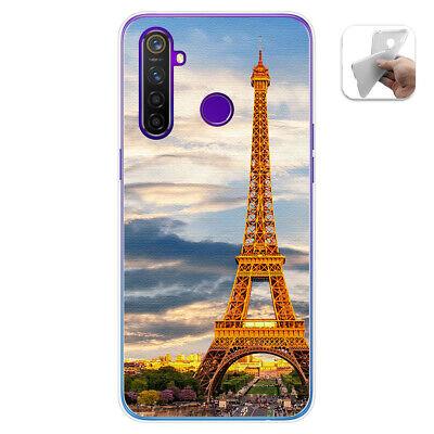 Cover Gel TPU per Realme 5 pro Disegno Paris Disegni