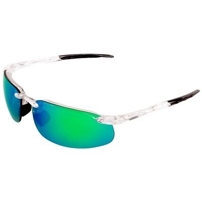 Bullhead Swordfish Safety Glasses with Green Mirror Anti-Fog Lens, Clear (Glasses With Mirror)