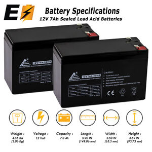 ExpertBattery 2 Pack - 12V 7AH BATTERY FOR RAZOR E200 & E300S ELECTRIC SCOOTER