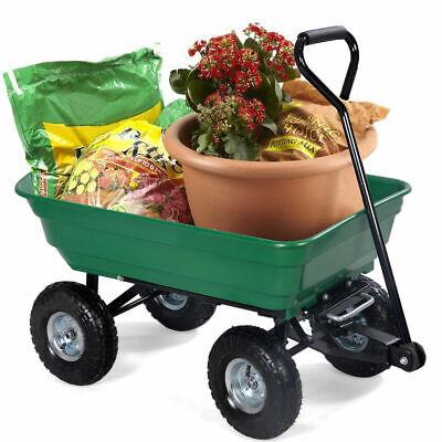 650LB Garden Dump Cart Dumper Wagon Carrier Wheel Barrow Air