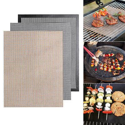 Barbecue BBQ Grill Mesh Non-Stick Mats Reusable Teflon Sheet Heat Resistant Pads