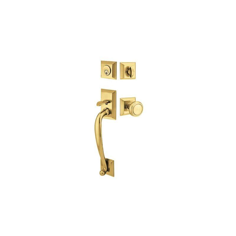 EMTEK 4413NWUS7 French Antique Brass Handleset.