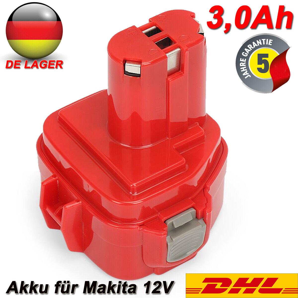 12V Akku für Makita PA12 1200 1220 1222 1233 1234 1235F 5093D 6270D 192698-8 Neu
