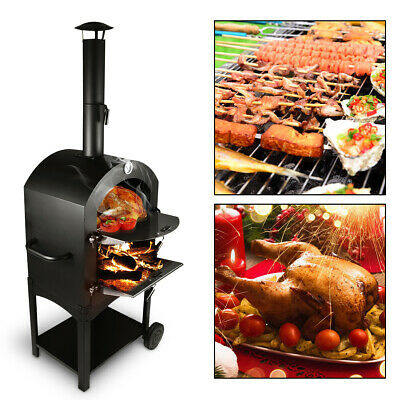Outdoor Stainless Steel Pizza Oven Used Wood Fired Delicious Maker Pizza Cooker