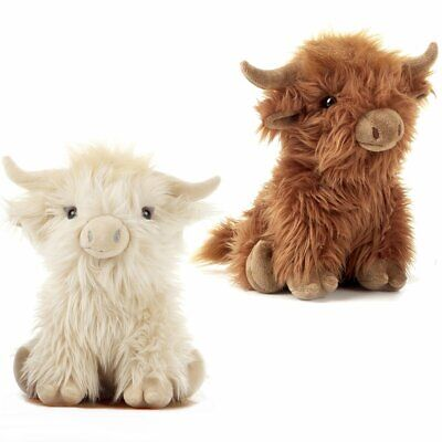26cm Large Highland Cow Cuddly Soft Toy - Plush Scottish Scotland Cow Gift - Cuddly Cow