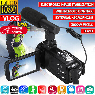 18X Video Digital Camera Camcorder HD 1080P Vlogging YouTube Touch Screen&Remote