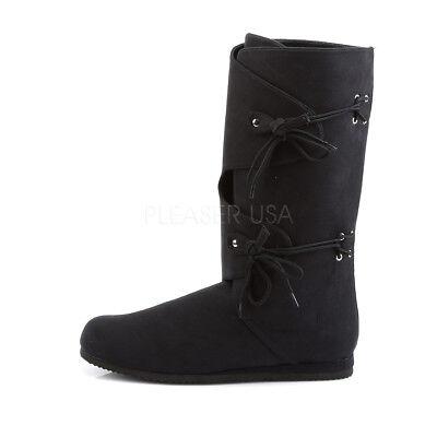 Black Medieval Warrior Viking Peasant Renaissance Fair Costume Boots Mens 11 12 - Medieval Peasant Shoes