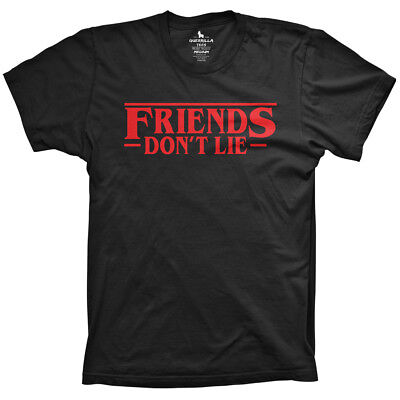 Friends Don't lie shirt funny sci fi tv shirts halloween gifts for tv buffs - Funny Halloween T Shirts