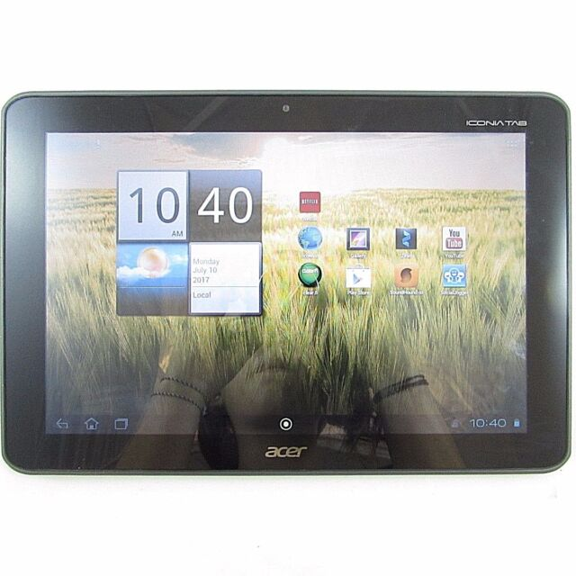 Acer Iconia A200-10g32u 32GB, Wi-Fi, 10.1in - Black Android Tablet - 0PLG