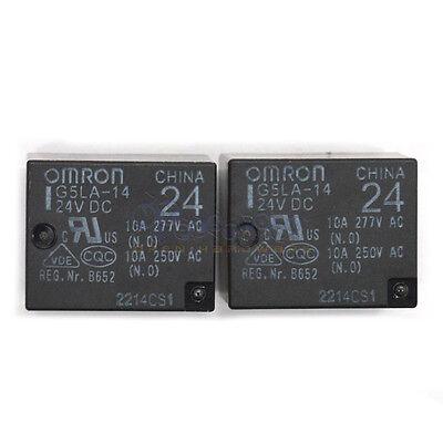(2PCS 24V Omron Relay G5LA-14 24VDC 10A 250VAC Power Relay)