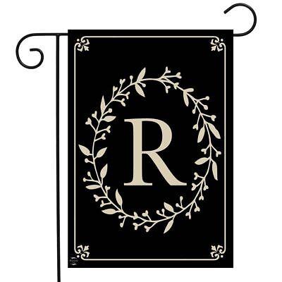 Garden Flag Letter - Briarwood Lane Classic Monogram Letter R Garden Flag Everyday 12.5