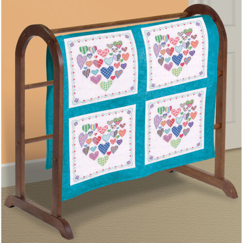 Janlynn 21-1489 Heart Filled with Hearts Quilt Blocks Stampe