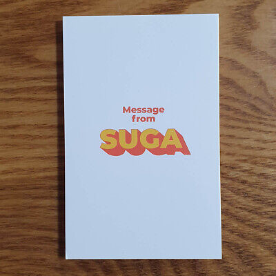 Suga Official Folded Message Card BTS Butter Genuine Kpop
