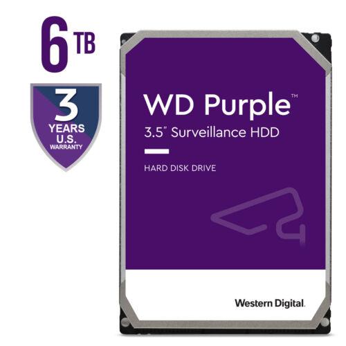 """WD Purple WD62PURZ 6TB HDD 5640RPM 3.5"""" Surveillance Hard Drive SATA 6GB/s 128M"""