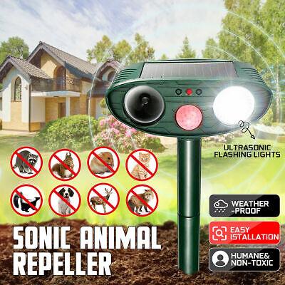 Outdoor Solar Power Ultrasonic Pest Animal Repeller Garden Cat Dog Fox Repellent