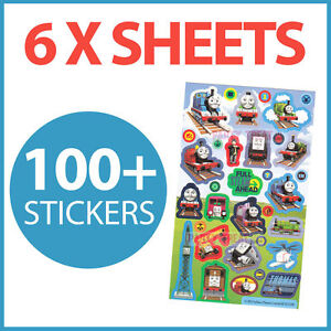 Thomas The Tank Engine Party Supplies 100+ Stickers Favours Trains Pack Of 6