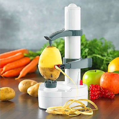 Automatic Electric Fruit Apple Pear Potato Peeler Cutter Slicer Kitchen
