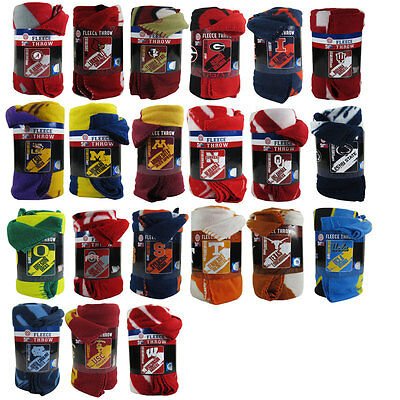 New Ncaa College Football Teams New Logo Large Soft Fleece Throw Blanket 50 X60