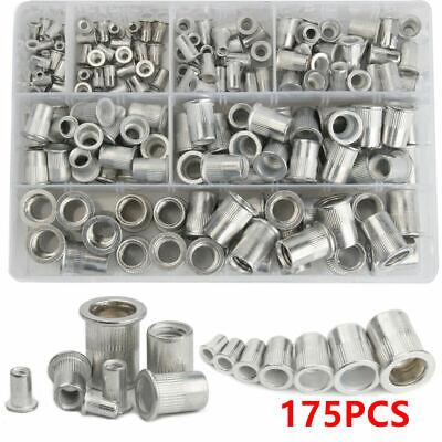 0.150 to 0.312 20 pk. M10 x 1.50 Zinc Steel Knurled Flanged Rivet Nut
