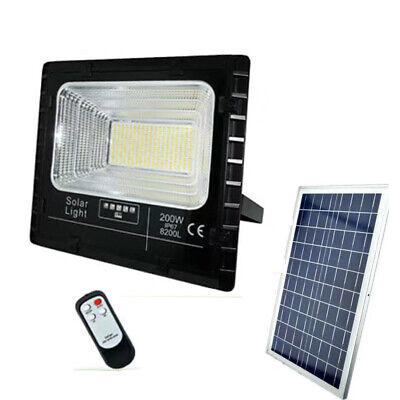 Faro LED Foco Alta Brillo ' Panel Solar Crepuscular Mando a Distancia...