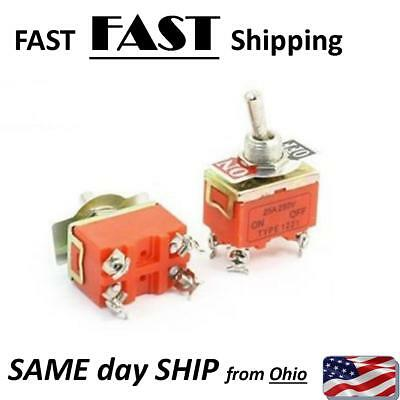 1x Dpst Onoff 2 Position Panel Mounted Toggle Switch 250v 15a 4 Pin