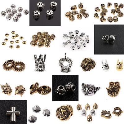 - 10PCs Buddha Head Lion Owl Fox Head Alloy Beads Fit Animal DIY Bracelets Gasket