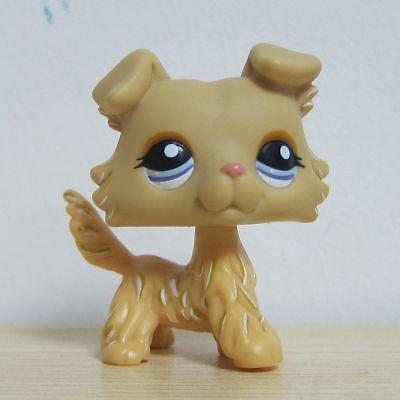 Littest Pet Shop LPS #1194 Golden Collie Puppy Dog Figure Toy S5