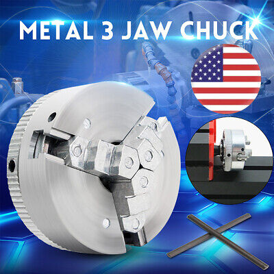 Metal 3 Jaw Self-centering Lathe Chuck M12x1 45mm For Mini 6 In 1 Lathetwo