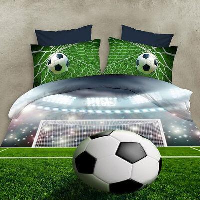 3D Fußball Fußball Gedruckt Bettwäsche Sets Duvet Sport Bettbezug Kissenbezüge (Bettwäsche-sets)