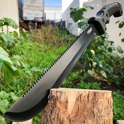 """15.5"""" HUNTING SURVIVAL FIXED BLADE MACHETE Tactical Knife Rambo BOWIE Camping"""