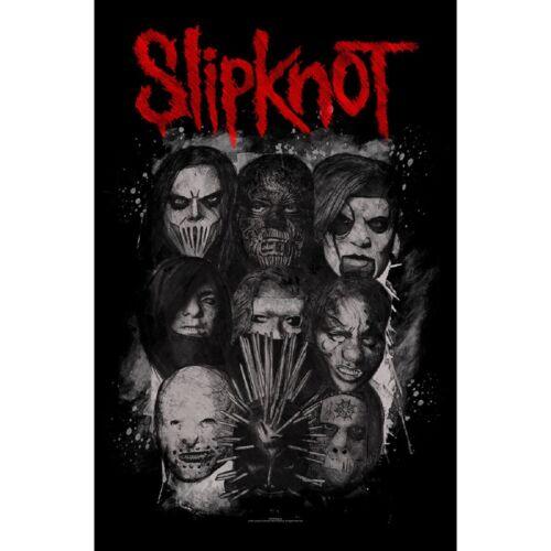 "Slipknot Masks Fabric Textile Poster Flag 26.5"" X 40"" - NEW"